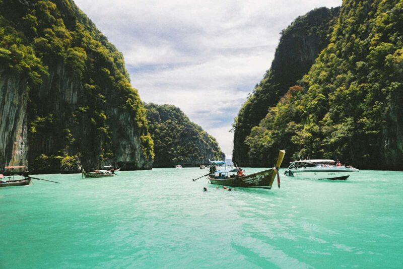 Bring a bikini and a GoPro on your Southeast Asia packing list to enjoy the blue waters of Southeast Asia.
