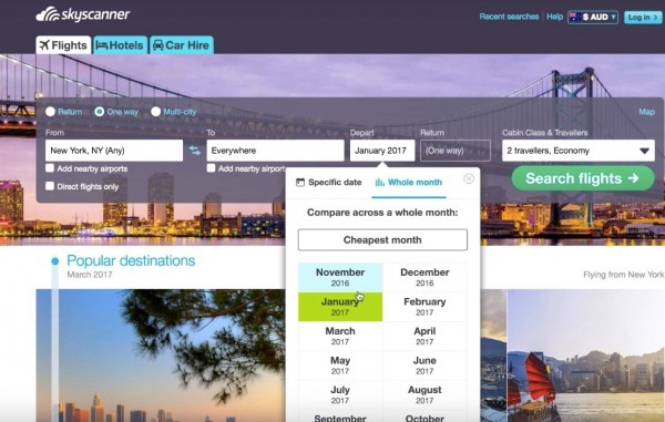 screenshot to create your itinerary in a guide for Cheap flights to anywhere