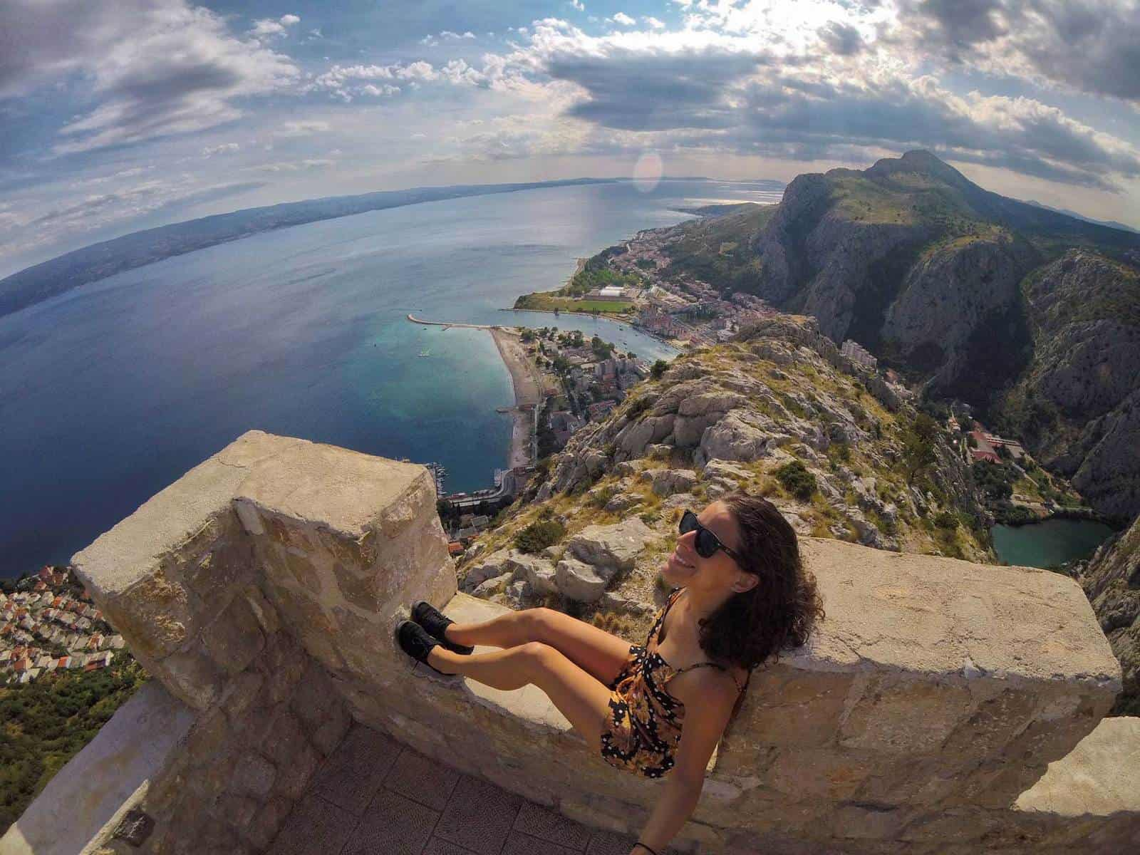 Get a view at Omis Fortress while road tripping Croatia.