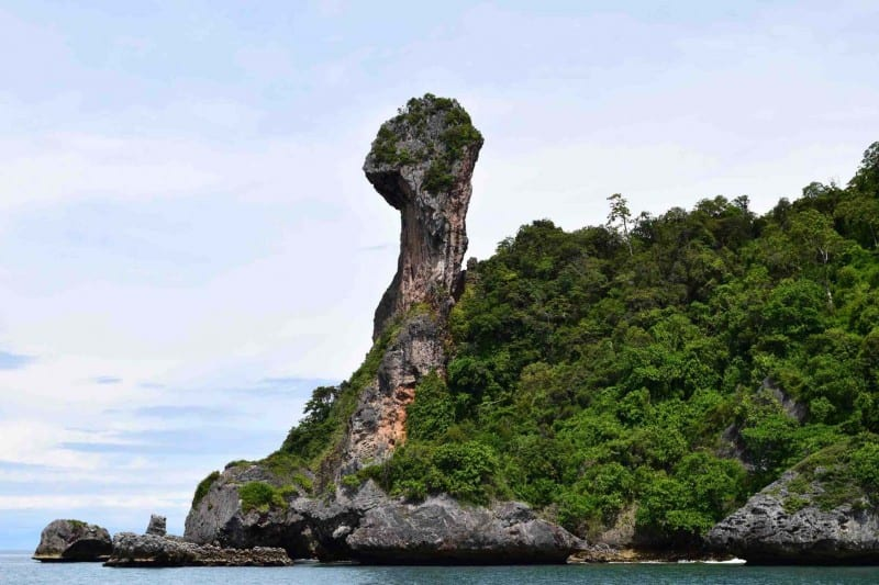 Krabi island hopping is the best things to while visiting the area! This is Chicken Island.