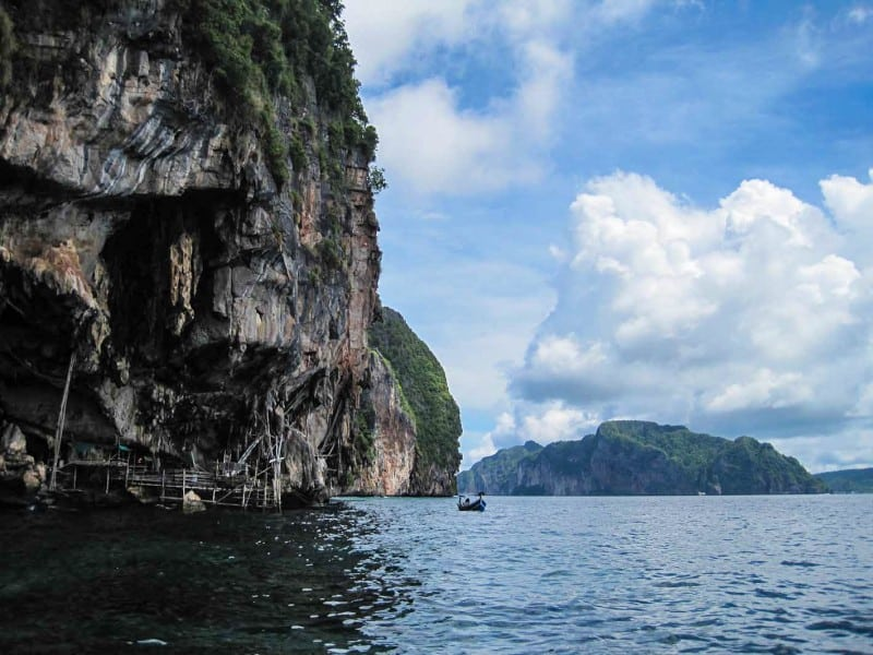 Wandering around krabi by boat is a must do!