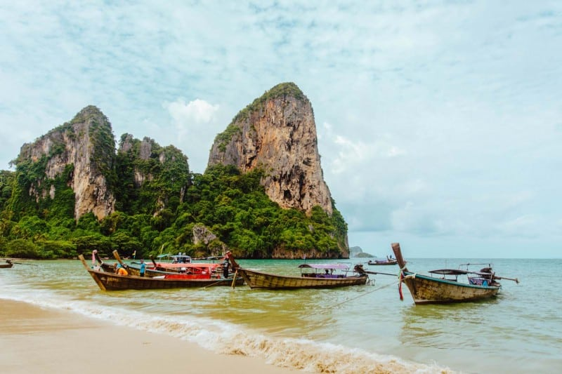 Railay beach is the best place to chill out while in krabi, thailand