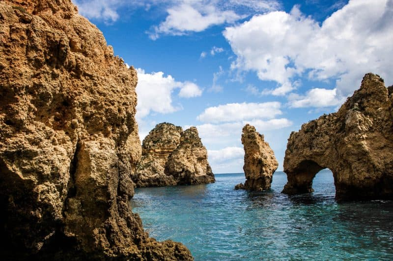 Lots of beautiful rocks during your 7 days in the Algarve