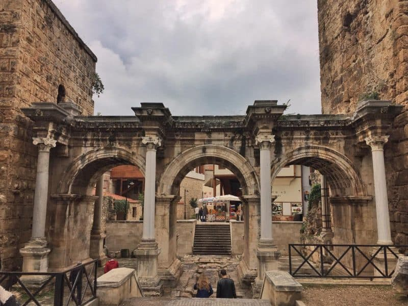 the ancient Hadrian's gate
