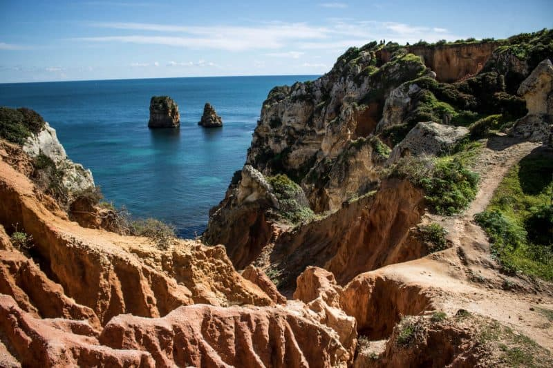 Hiking cliffs on your Algarve itinerary