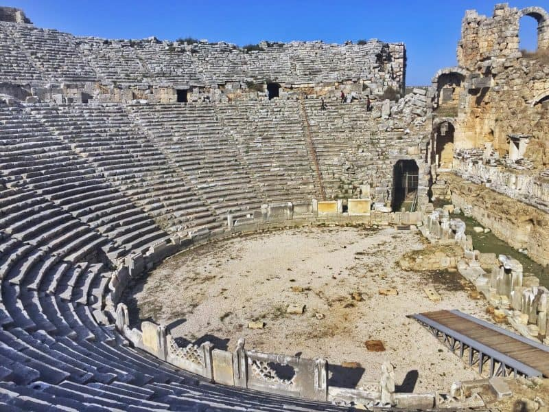 Perge theatre is one of the ancient heritage in Antalya