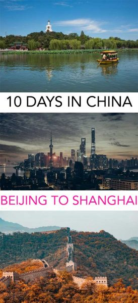 Going from Beijing to Shanghai on a 10 day trip around china