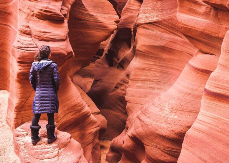 Visiting Antelope Canyon in winter