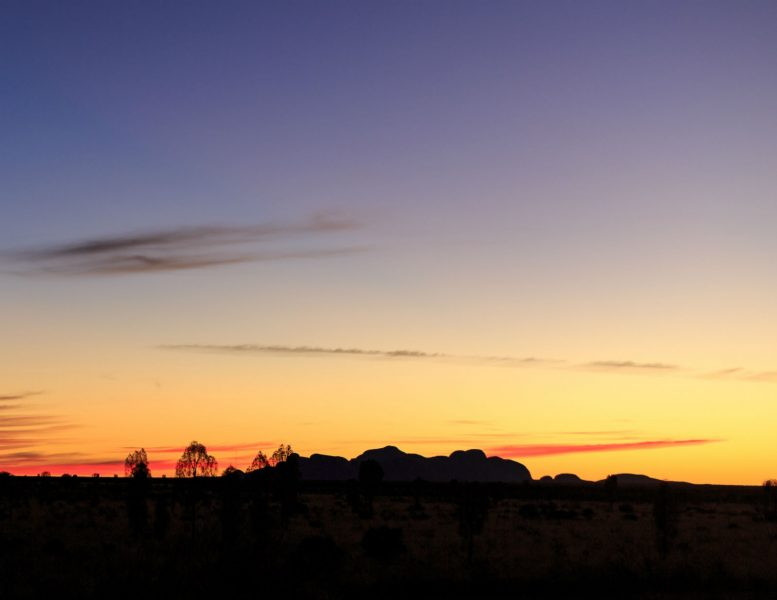 Sunset at Kata Tjuta National Park is one of the best things to do during Uluru trip.