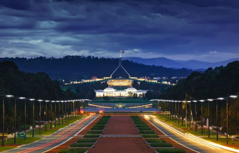 The monthly cost of living in Canberra Australia is much more nominal.