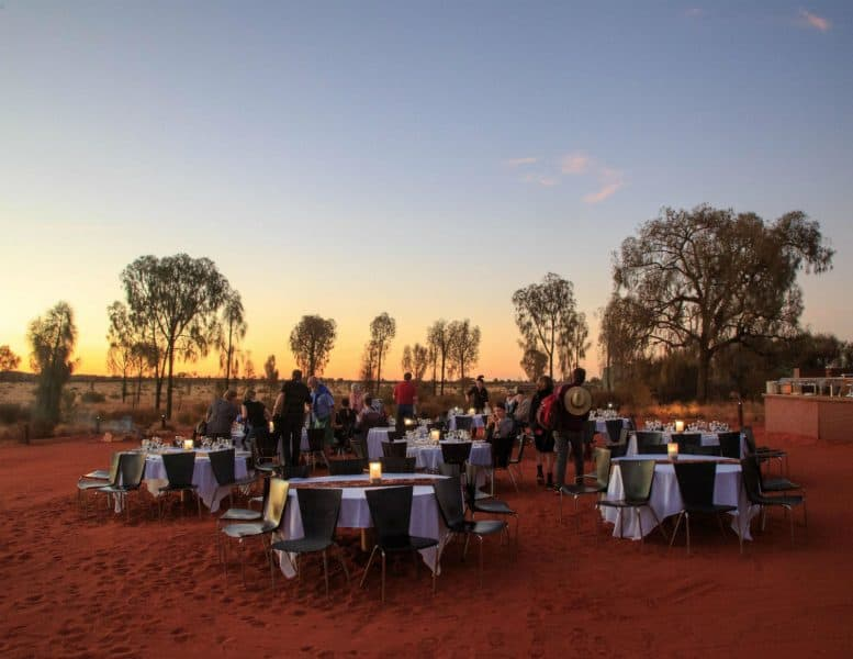 The Sounds of Silence dinner is the best loved outback hiking experience.