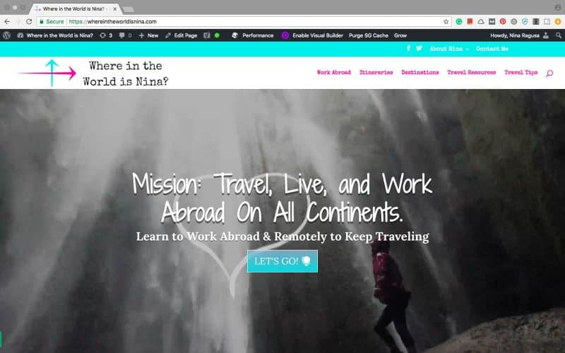 A website about how to get paid work abroad