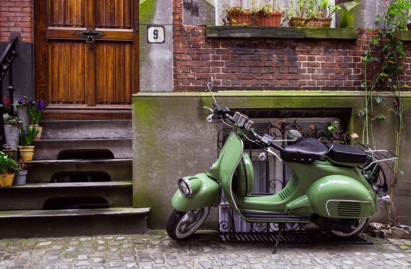 Do like the locals and ride a Vespa for 2 days around Rome.