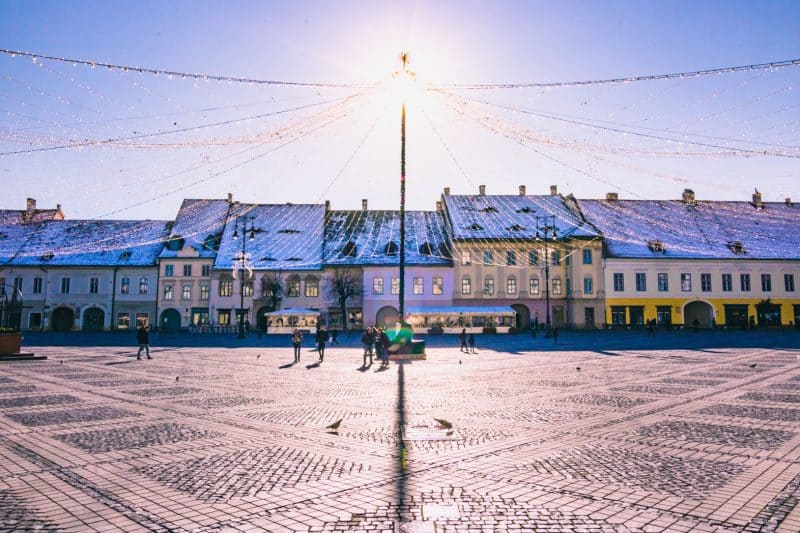 Sibiu town - A cute town to visit as a thing to do in Transylvania