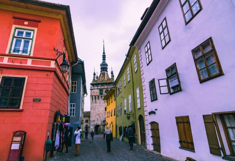 Sighisoara is so colorful!