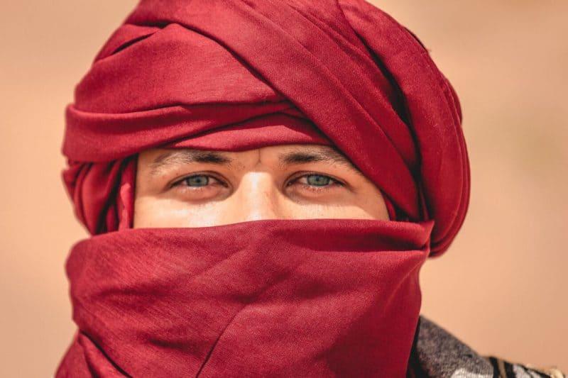 Garrett in a turban.