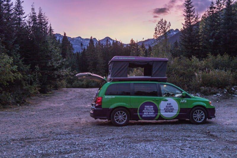 Parking a campervan