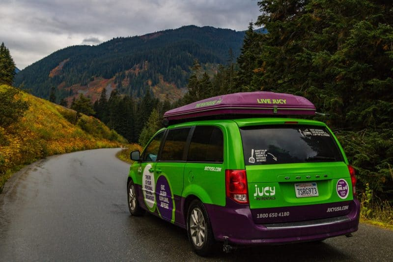 Campervanning the USA in a JUCY van