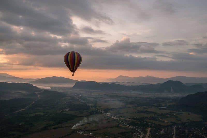 Balloon ride tour Laos