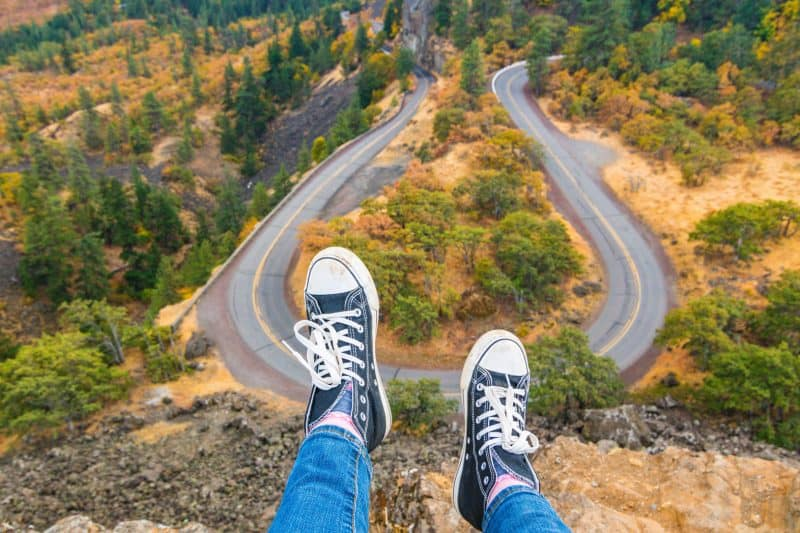 Road trip views at Rowena Crest Viewpoint
